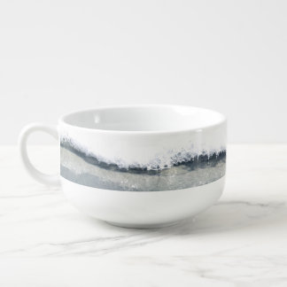 Starfish in the Surf Soup Mug