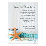 Starfish Informal Beach Wedding Personalised Announcement
