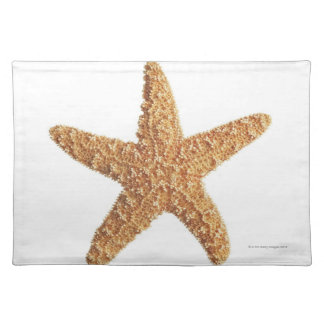 Starfish isolated on white placemat