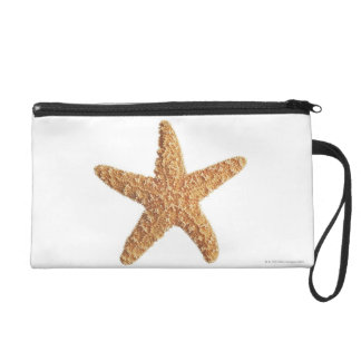 Starfish isolated on white wristlet clutch
