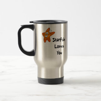 Starfish Loves You 15 Oz Stainless Steel Travel Mug