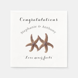 Starfish Married Couple Congratulations Napkins Paper Serviettes