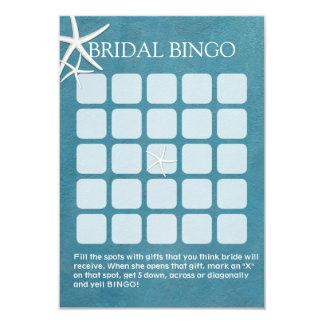 Starfish Nautical Bridal Shower Bingo Cards