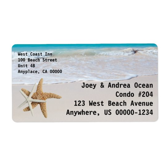 Starfish Ocean Custom Shipping Shipping Label