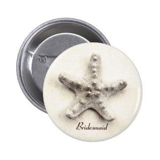 starfish - ocean whisper - bridesmaid pin button