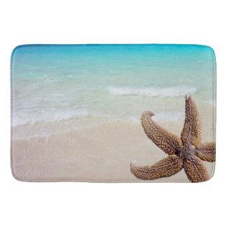 Starfish on Beach Seashore Image Bath Mat