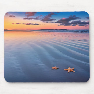 Starfish On Sand Mouse Mat
