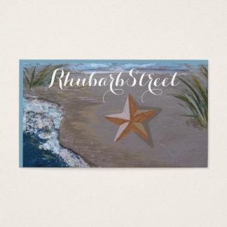 """Starfish on Slate"" business card"