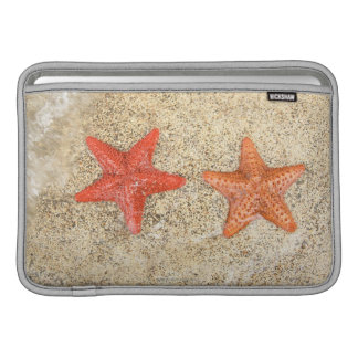 starfish on the beach, at the edge of the ocean sleeve for MacBook air