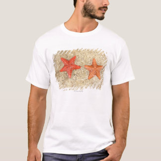 starfish on the beach, at the edge of the ocean T-Shirt