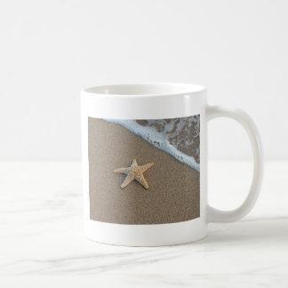 Starfish on the beach coffee mugs