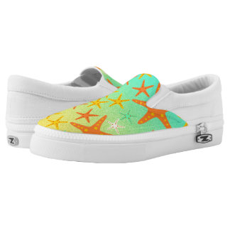 Starfish on the beach printed shoes