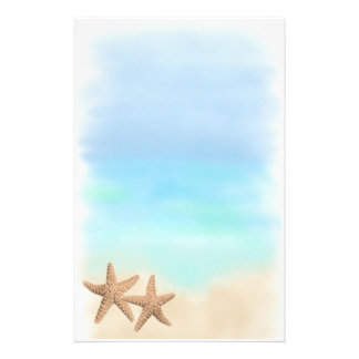 Starfish on the Beach stationery