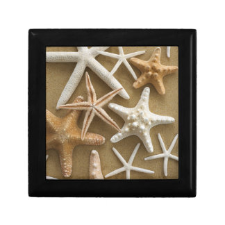 Starfish On The Sand Small Square Gift Box