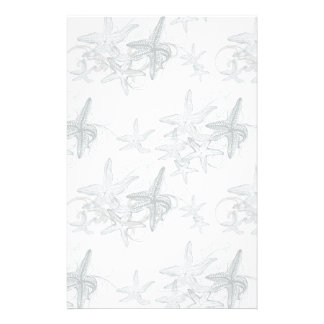 Starfish On The Sea Pattern Customised Stationery