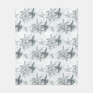 Starfish On The Sea Pattern Fleece Blanket