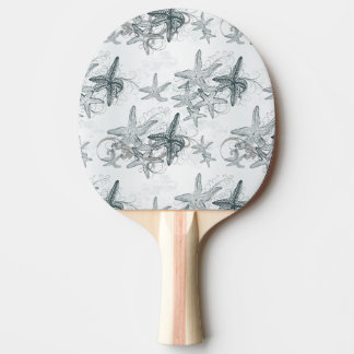 Starfish On The Sea Pattern Ping Pong Paddle