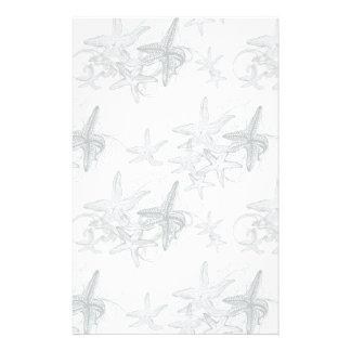 Starfish On The Sea Pattern Stationery