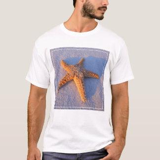 Starfish On White Sand T-Shirt