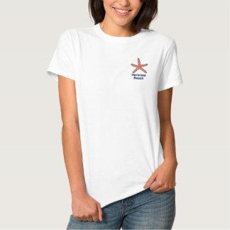 Starfish Orange Personalized Beach Embroidered Ladies Polo