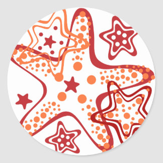 Starfish ornament classic round sticker