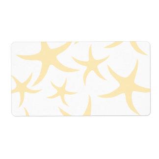 Starfish Pattern in Pastel Yellow and White.
