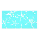 Starfish Pattern in Turquoise and White. Photo Greeting Card