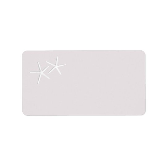 Starfish Printable Labels in Light Grey