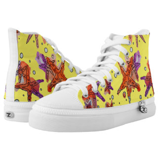 starfish printed shoes