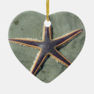 Starfish Purple sea star on beach Christmas Ornament