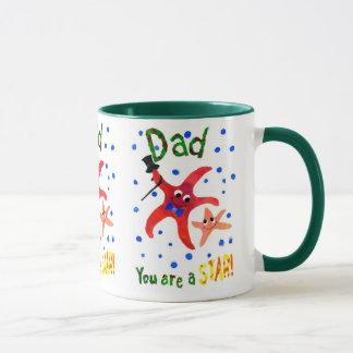 Starfish Ringer Mug, Father's Day Gift Mug
