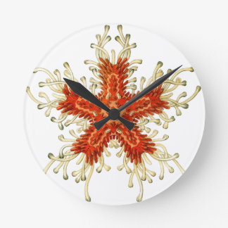 Starfish Round Clock