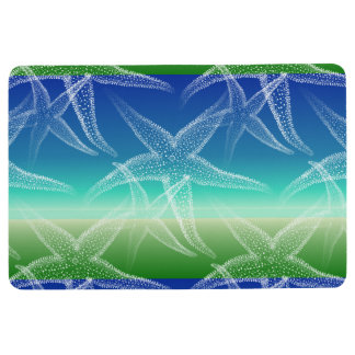 Starfish Sand Blue Green Beach Floor Mat