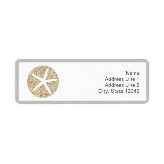 Starfish Sand Dollar Beach Address Envelope Labels