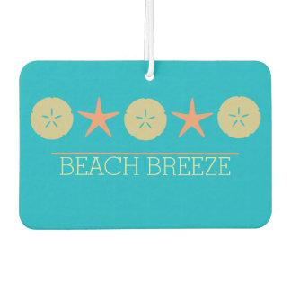 Starfish Sand Dollar Beach yellow orange turquoise Car Air Freshener
