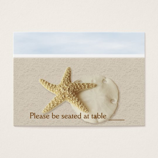 Starfish & Sand Dollar Escort Card