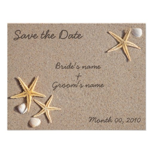Starfish Save the Date invitations