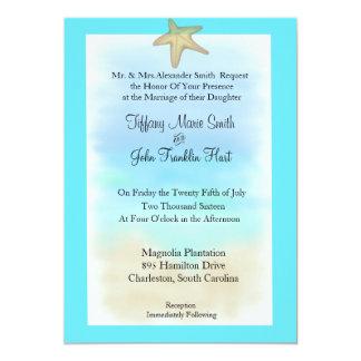 Starfish Seashell Wedding Invitation