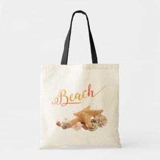 Starfish Seashells Beach Tropical Vacation Tote Bag