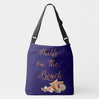 Starfish Seashells on the Beach Tropical Vacation Crossbody Bag