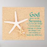Starfish Serenity Prayer Poster