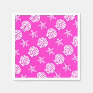 Starfish shell beach theme paper napkin