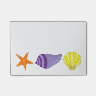 Starfish Shells Sea Shell Beach Post-It Notes