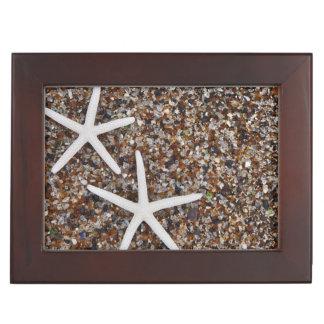 Starfish skeletons on Glass Beach Keepsake Boxes