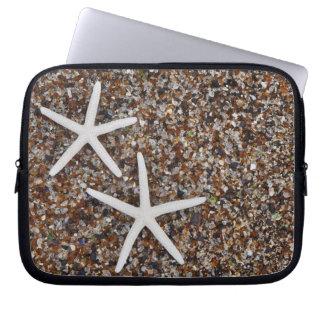 Starfish skeletons on Glass Beach Laptop Sleeve