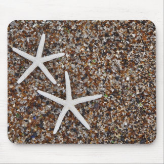 Starfish skeletons on Glass Beach Mouse Mat