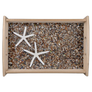 Starfish skeletons on Glass Beach Serving Tray