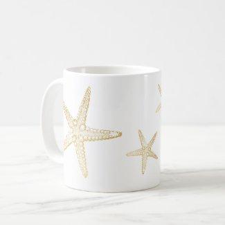 Starfish Sketch Beach Seashell Lover Mug