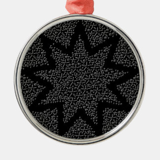 Starfish Stars Silver-Colored Round Decoration