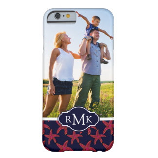 Starfish Style Pattern| Your Photo & Monogram Barely There iPhone 6 Case